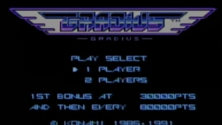 GRADIUS (Wii U Virtual Console IMPORT)- Gameplay Footage (Complete Game)