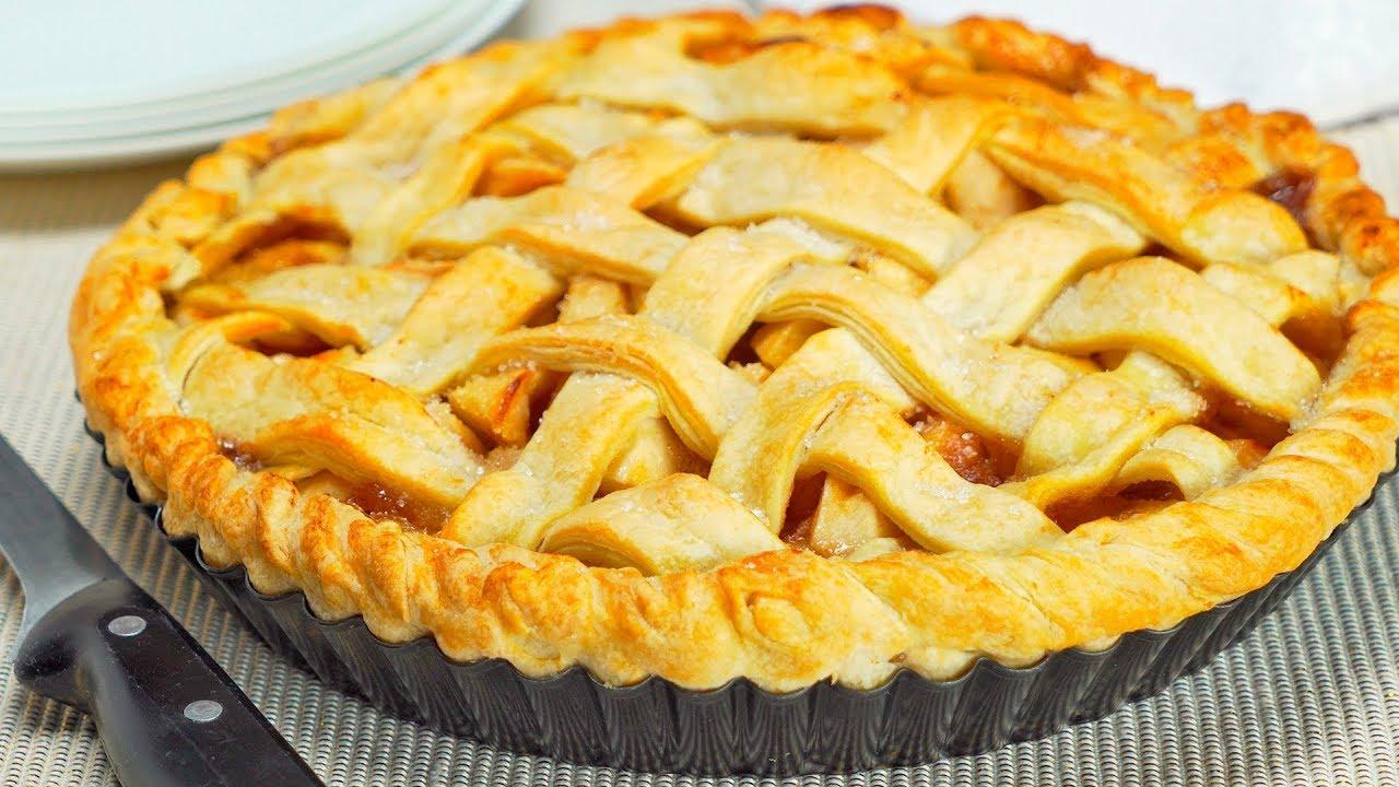 пирог из готового теста с яблоками