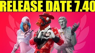 Fortnite Share The Love RELEASE DATE Valentines Challenges Delayed (V7.40 update Release time)