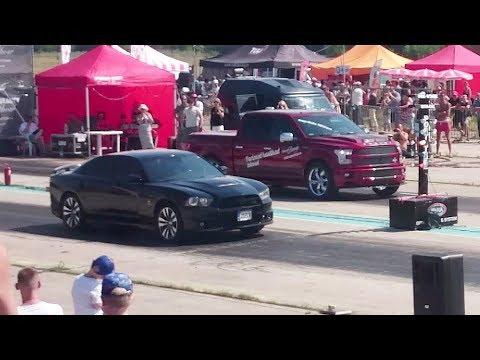2018 Shelby F-150 Super Snake vs 2012 Dodge Charger SRT-8 1/4 mile drag race