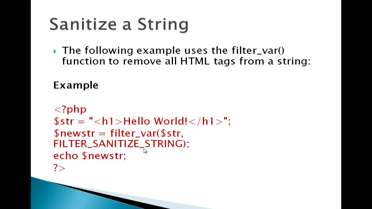 remove html tags from string php