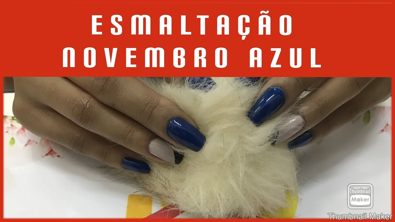 Esmaltação Novembro Azul - Professora Cleuza - (Curso Manicure)