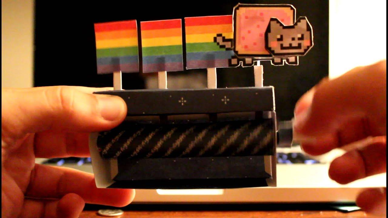 Paper Craft Keybaord Cat