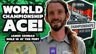 James Conrad Aces Hole 16 at the 2021 Disc Golf World Championships | Gatekeeper Media