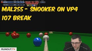 Virtual Pool 4 Snooker   107 Break by Mal255 w/ Facecam live commentary