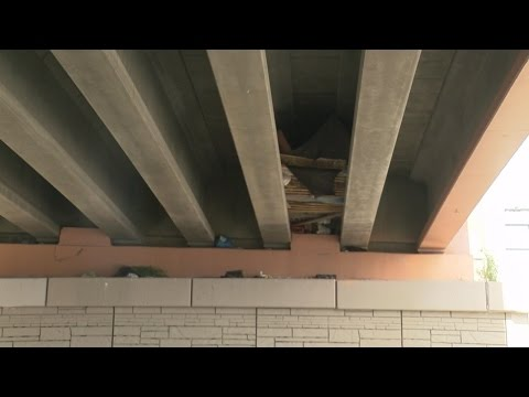 Homeless camp under I-40 causes big concern for drivers