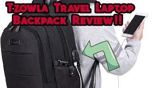 Tzowla Travel Laptop backpack Anti-Theft Lock and USB Charging Port Review