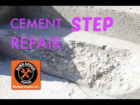 Cement Step Repair In One Day By Home Repair Tutor