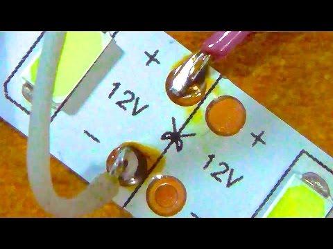 видео: КАК паять  светодиодную ленту ?
