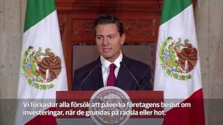 Mexikos president till Donald Trump: Vi tänker inte betala för muren