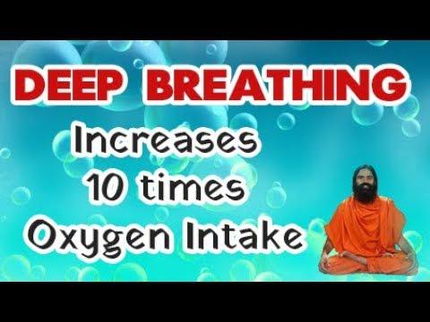 Deep Breathing increases 10 Times Oxygen Intake | Baba Ramdev Yoga Hindi