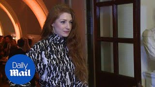 Nicola Roberts stuns in quirky monochrome mini dress - Daily Mail