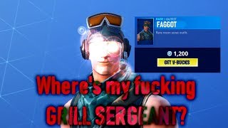 Fortnite Item Shop Glitch (?) Unable to get the Grill Sergeant!