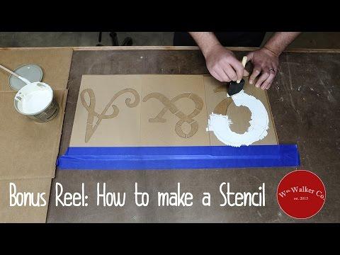How to make a DIY stencil