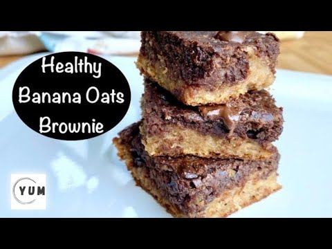 oatmeal-banana-brownie-|-brownie-with-oats-flour,-no-refined-flour,-sugar,-egg-or-butter-gluten-free
