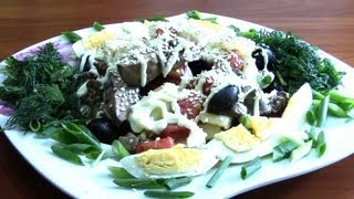 Салат из куриной печени с помидорами.Теплый салат.