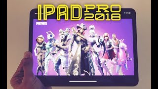 Live Fortnite gaming  on the New iPad Pro 2018
