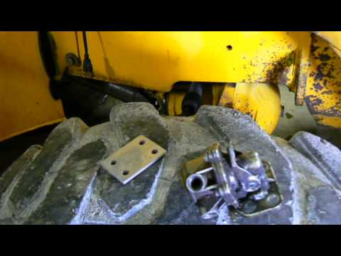 Fitting a fuel pump blanking plate to JCB backhoe  YouTube