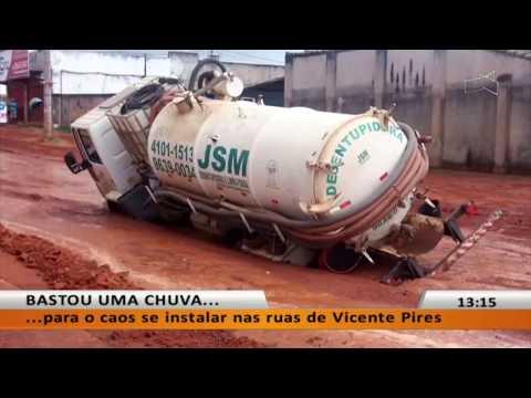 JL - Bastou uma chuva para o caos se instalar nas ruas de Vicente Pires