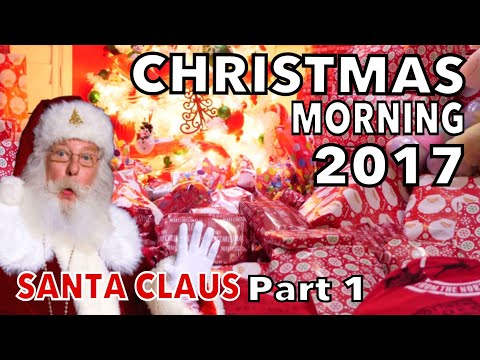CHRISTMAS MORNING KIDS OPENING PRESENTS 2017  EPIC  santa was here  part 1