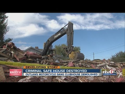Outlaws Motorcycle Club house destroyed