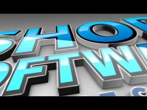 Eshop Software Logo HD 3D Animation