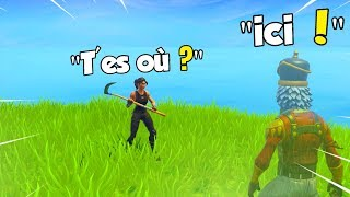 "Troll grande em ""invisível"", este raide acha que eu ""CHEAT""! Battle Royale do FORTNITE"