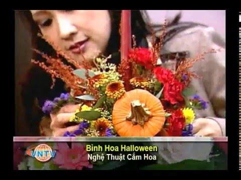 VNTV Flowers Arrangements - Nghệ Thuật Cắm Hoa - Bình Hoa Halloween