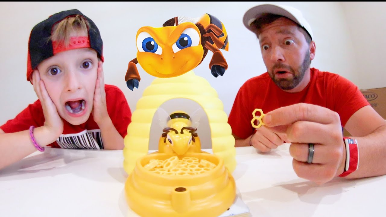 Father & Sons PLAY BEEHIVE SURPRISE!! ( Don't Get Stung!)