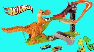 Pista Hot Wheels T  Rex Muerde Coches Dinosaurio