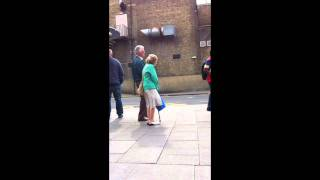 Old lady wanting to dance
