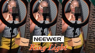 """Affordable 18"""" Neewer Dimmable LED Ring Light 