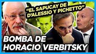 Verbitsky revela operación y apriete de Pichetto y D'Alessio