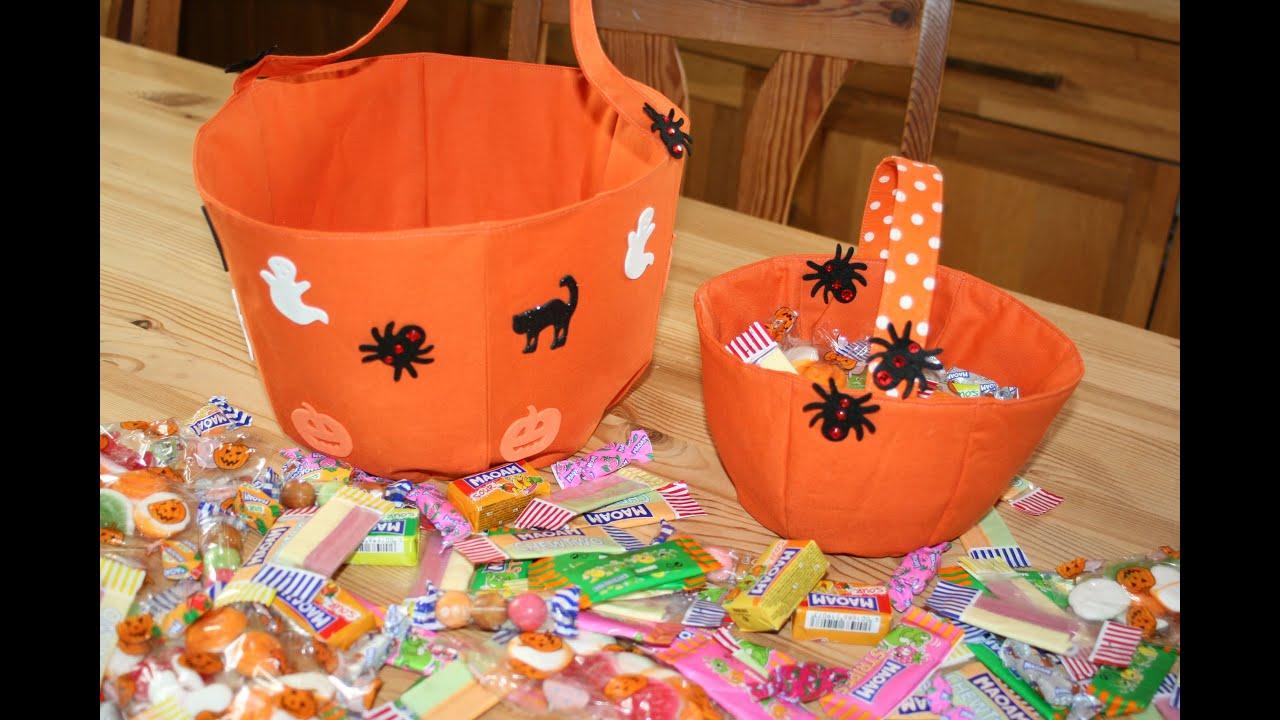 Halloweenkorb nähen mit kostenlosem Schnittmuster von Zeckis ...