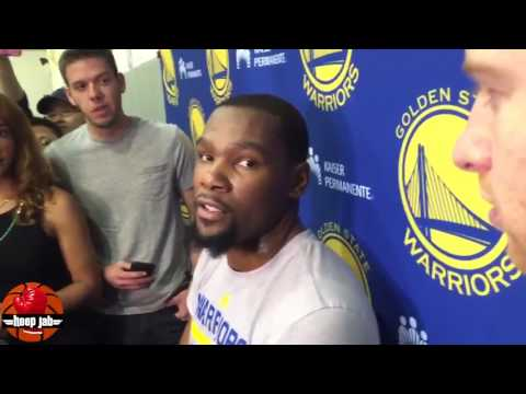 Kevin Durant Talks Russell Westbrook Making The All NBA Team & Himself Making The 2nd Team HoopJab