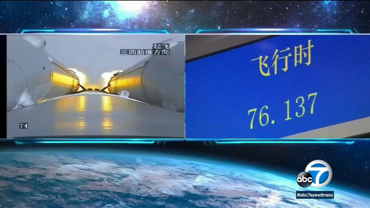Chinese rocket falls from space