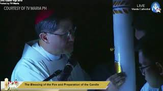Blessing of Fire led by Cardinal Tagle for Easter Vigil 2018