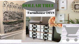 THREE EASY FARMHOUSE DIYS // DOLLAR TREE FARMHOUSE DIY DECOR // BUDGET FRIENDLY DIYS