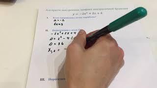 Алгоритм построения графика квадратичной функции