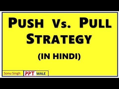 Pull vs. Push Strategy in Hindi | Meaning | Difference | Promotion mix | Marketing Management | ppt