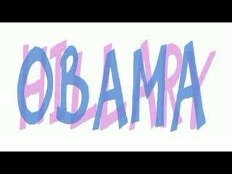 OBAMA vs HILLARY ... Animated Editorial Cartoon