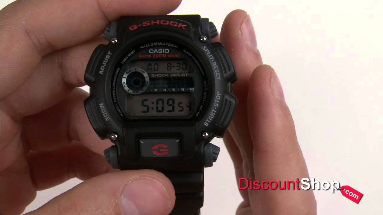 Casio G-Shock DW-9052-1VDR - review by DiscountShop.com - YouTube 7615e43c980