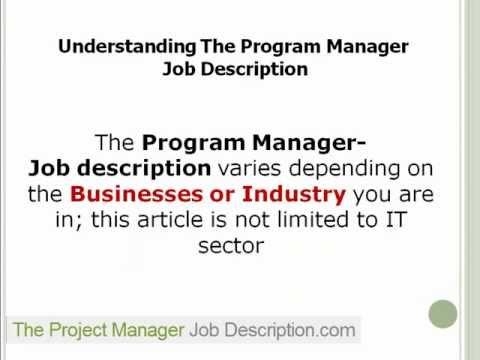 Program Director Job Description 1 – Program Director Job Description