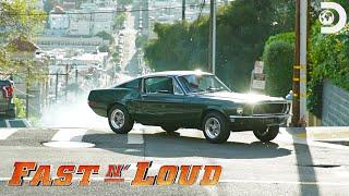 وراء الكواليس: إعادة الشهير ستيف ماكوين بوليت مطاردة السيارات | ن سريع' بصوت عال