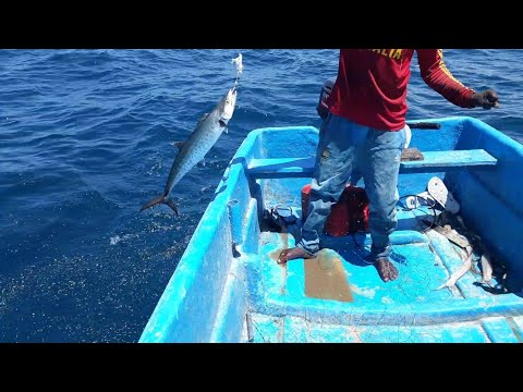 Handline Fishing King Fish Indian Ocean
