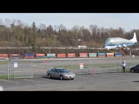 Super Guppy at Boeing Field, Seattle 3/24/2014