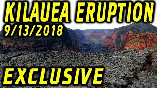 NEWS UPDATE EXCLUSIVE Hawaii Kilauea Volcano Fissure 8 Video for 9/13/2018