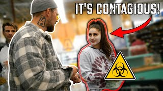 Trolling People At Grocery Stores About The Virus!