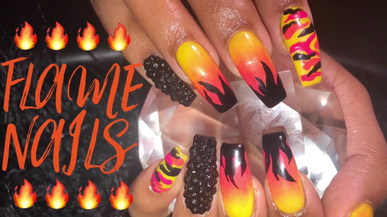 Acrylic Nails Tutorial | Flame Nails