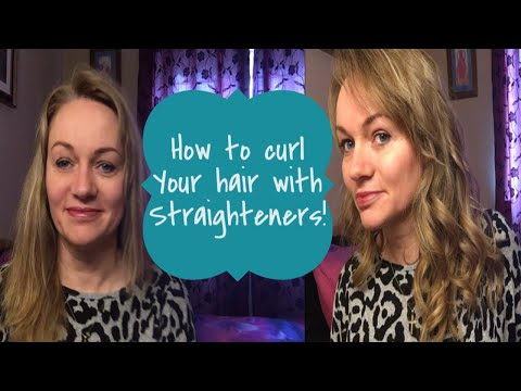 HOW TO CURL HAIR WITH A STRAIGHTENER/FLAT IRON | EASY CURLS